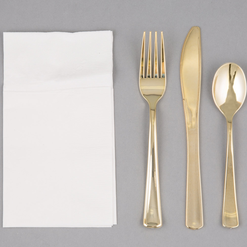 Alluring gold plastic silverware with glitters gold plastic silverware for serverware ideas