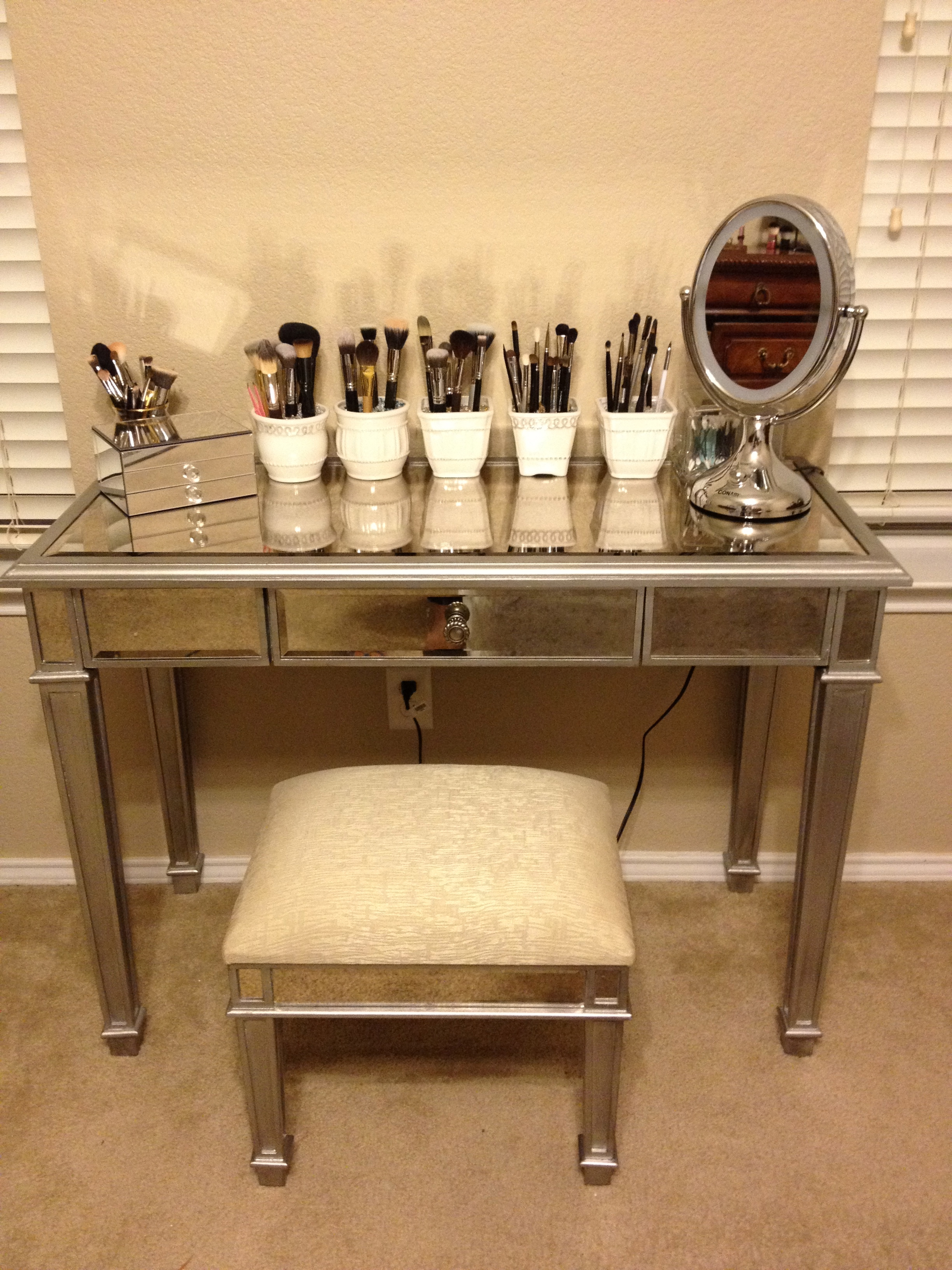 Alluring hayworth vanity mirrored vanity and ikea vanity also ikea rug hayworth rug ideas