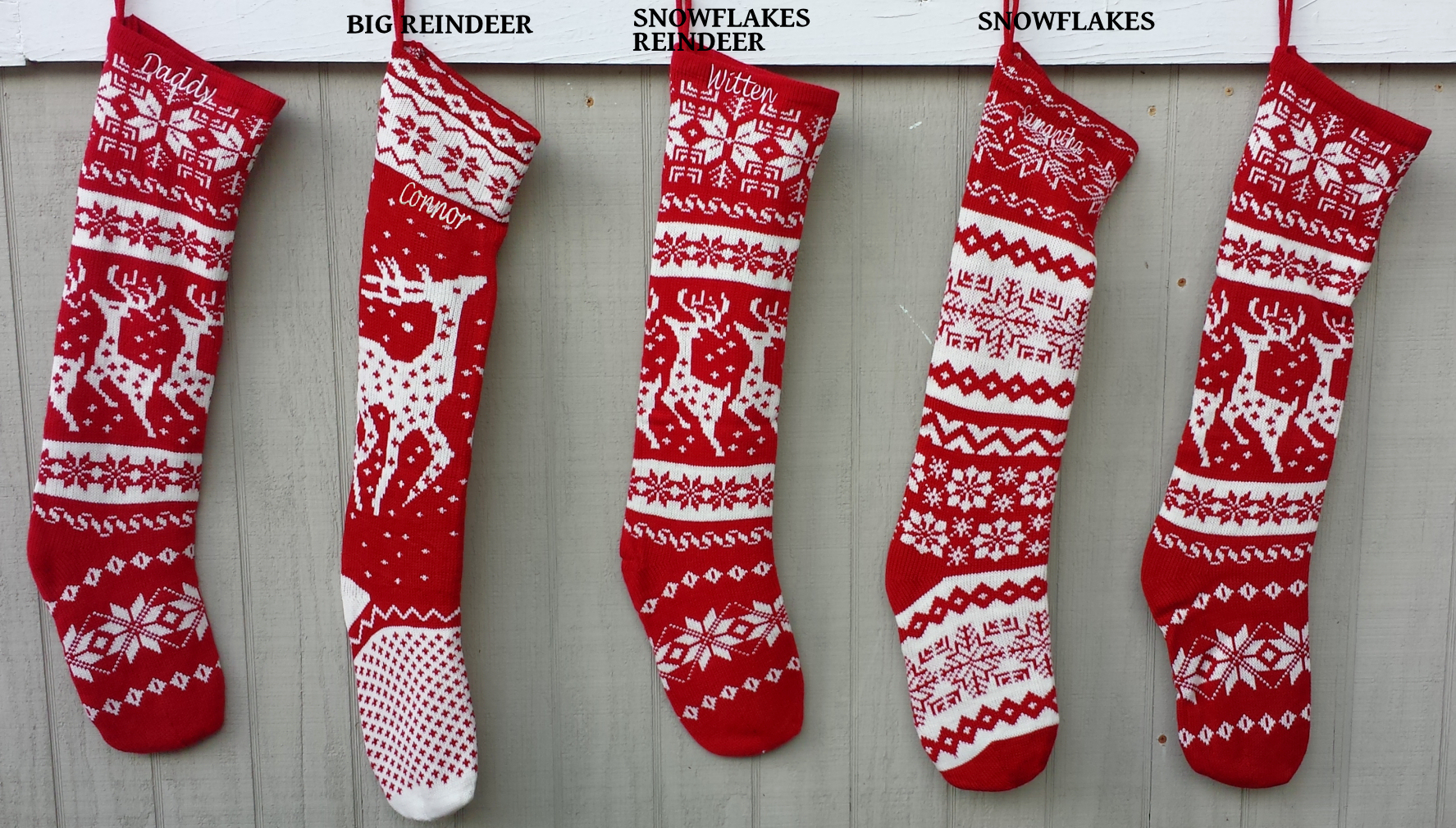 Alluring knit christmas stockings with multicolorful christmas stocking and fireplace at chistmas day interior design