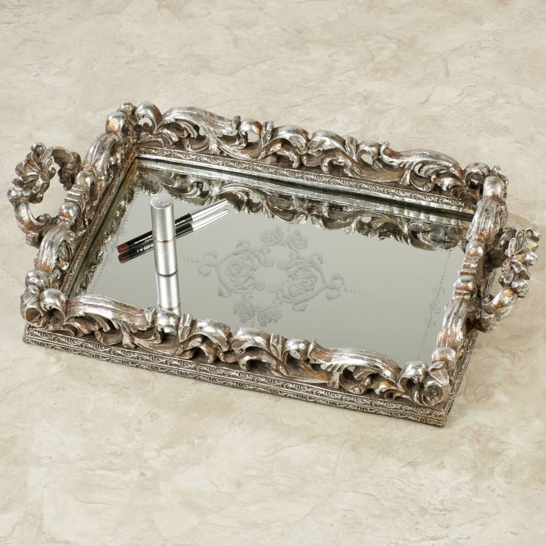 Alluring Mirrored Vanity Tray