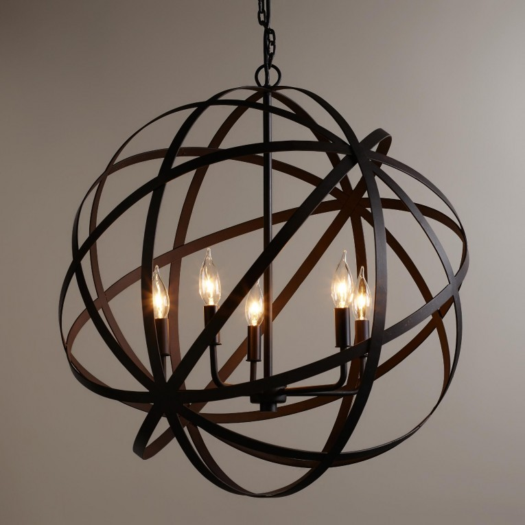 Alluring Sphere Chandelier Metal Orb Chandelier With Interesting Cheap Price For Your Home Lighting