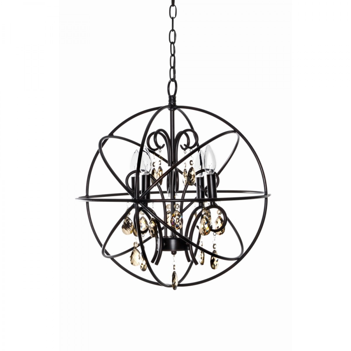 Alluring unique design of orbit chandelier with iron or stainless for ceiling lighting decorating ideas