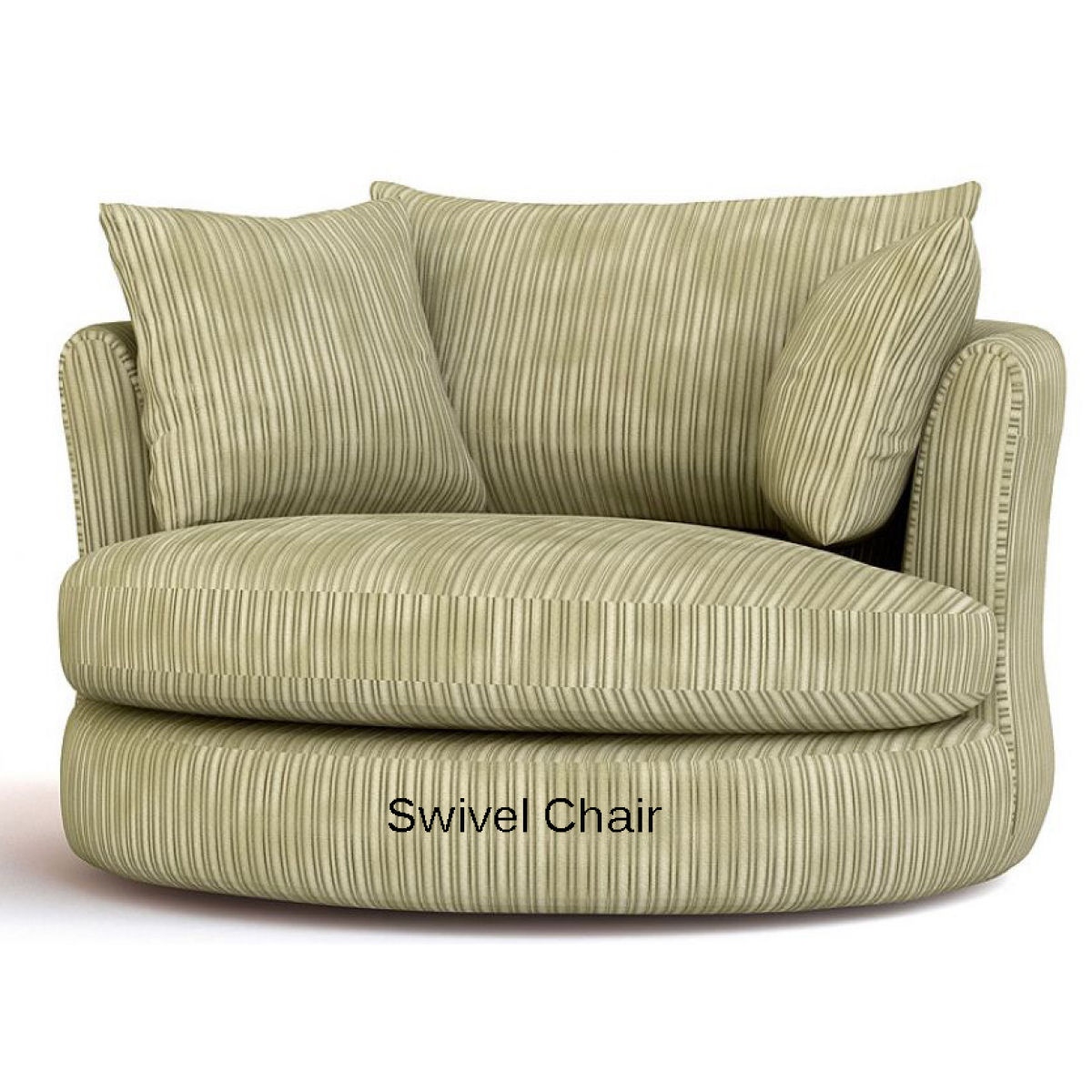 Amazing Cannon Swivel cuddle chair with cushion and for your Beautiful Living Room Ideas