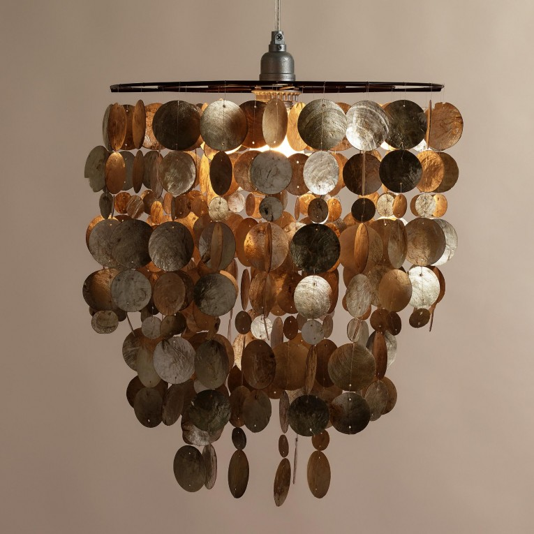 Amazing Capiz Shells Wall Mirror Gold With Light Capiz Shells For Your Home Lighting Ideas