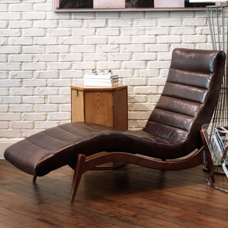 Amazing Leather Chaise With Beautiful Colors And Laminate Flooring Also Unique Interior Display For Living Room Furniture Ideas