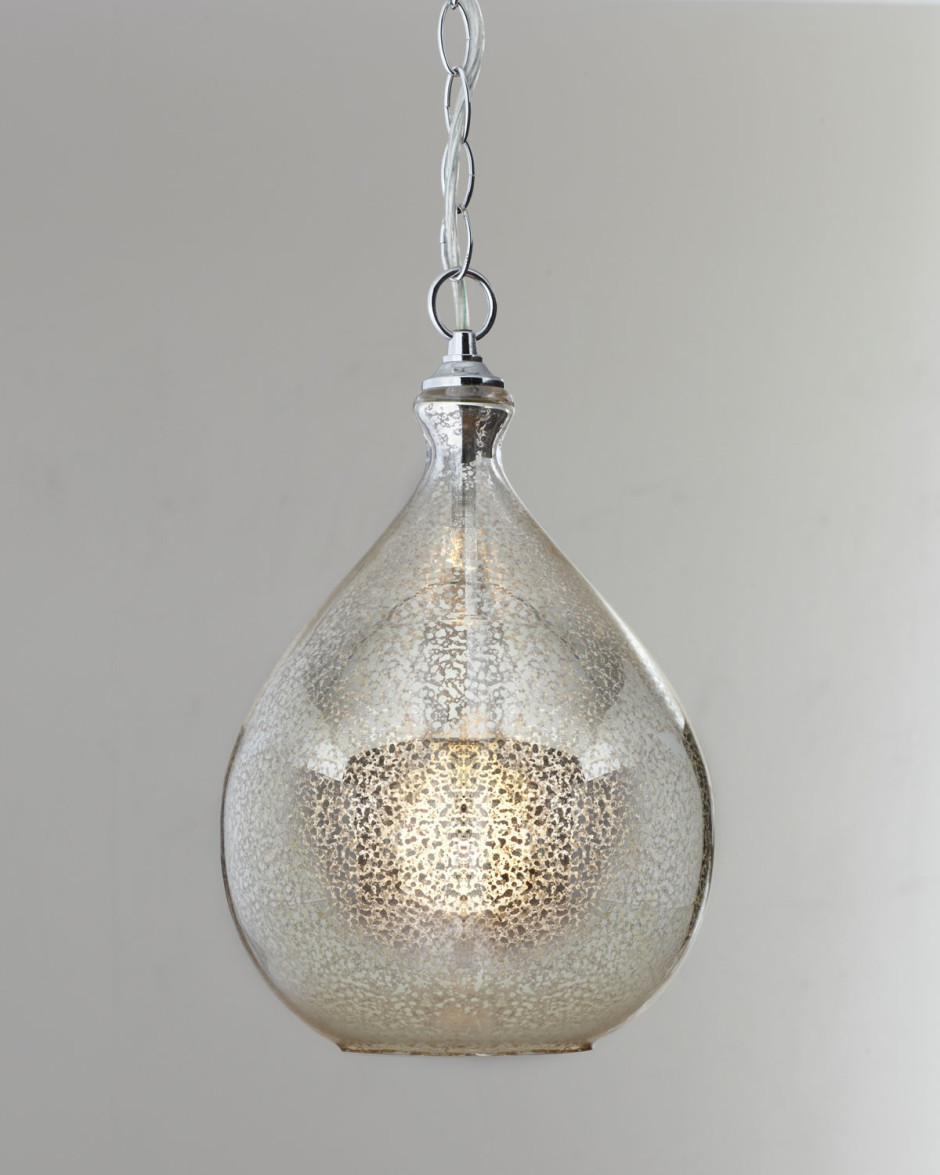 Amazing mercury glass pendant light with pendant lamp