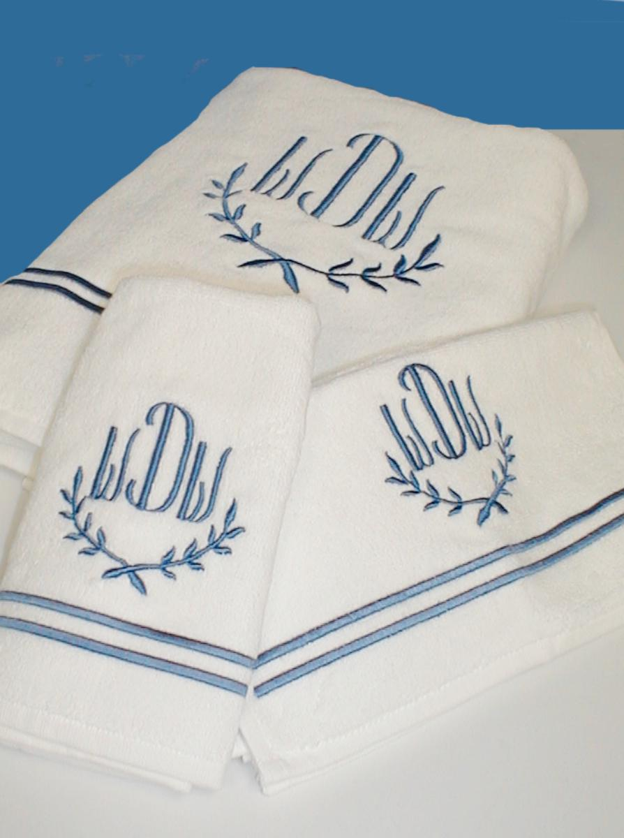 Amazing Monogrammed Hand Towels With Decorative Logo Pattern Towel For Bathing Ideas