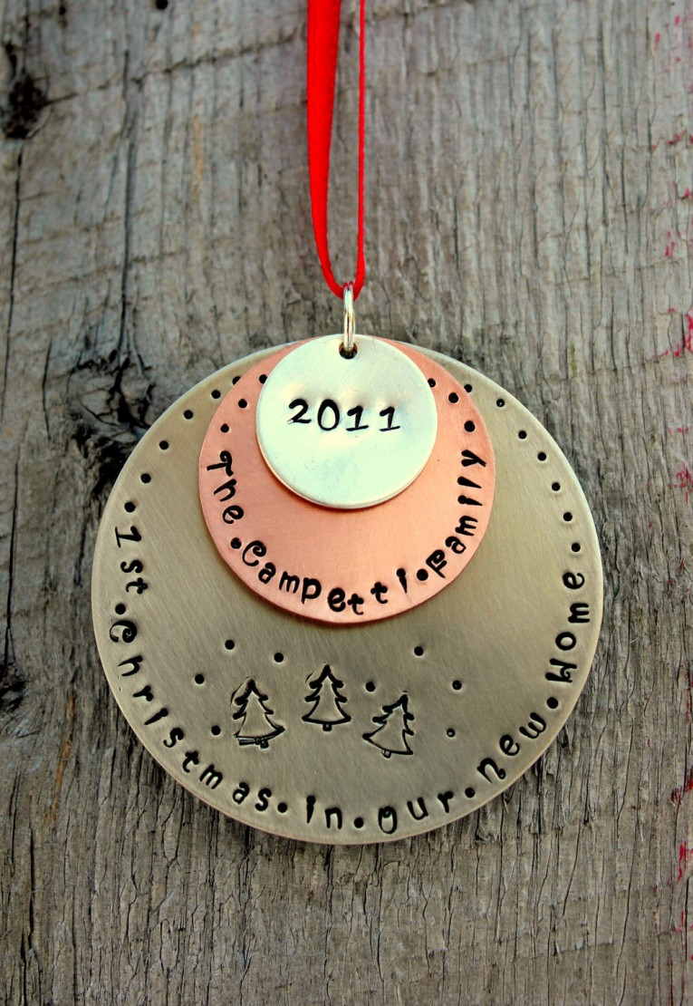 Amazing Our First Christmas Ornament With Unique Design For Home Improvement Decorating Christmas Ideas