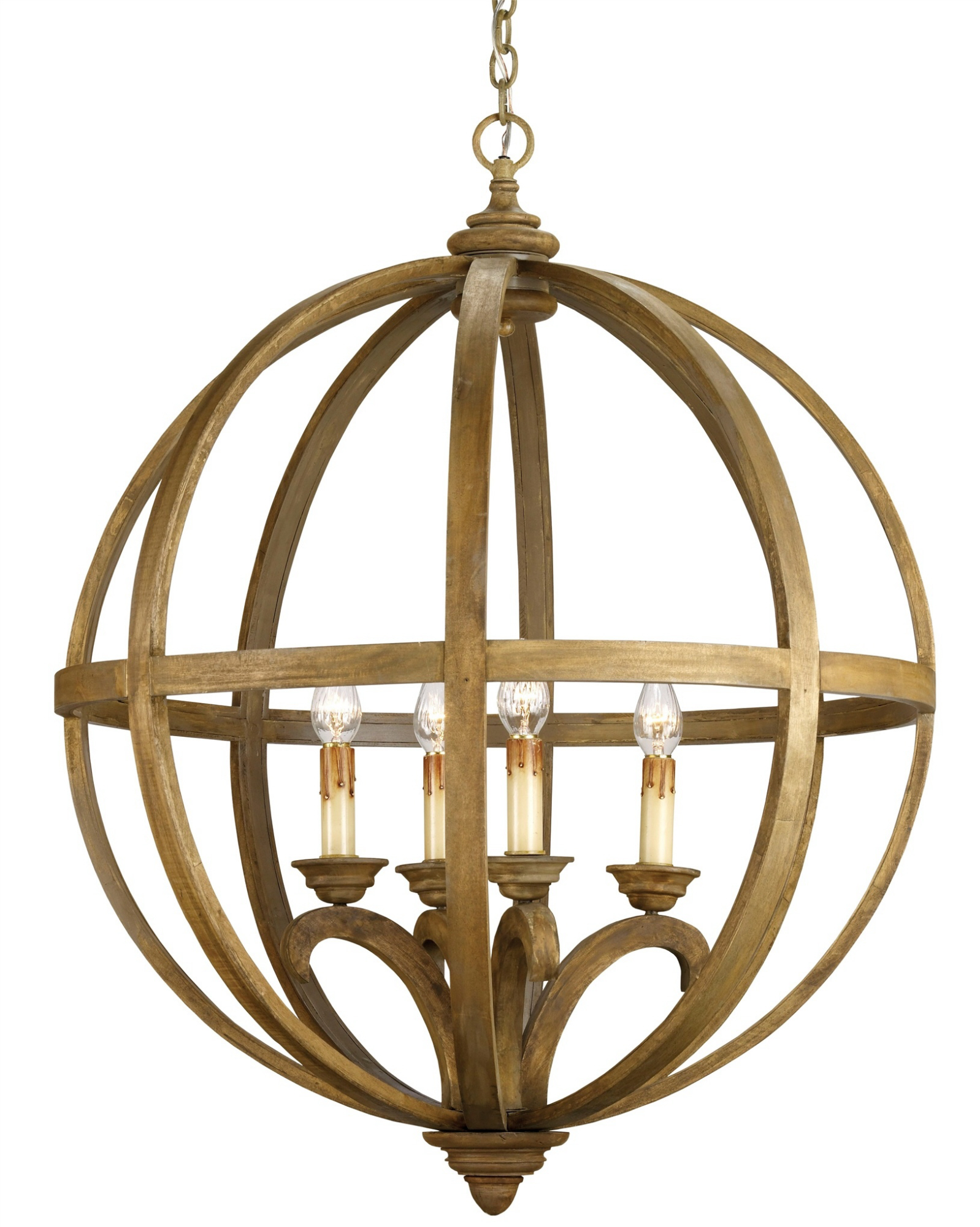 Home Decor Admirable Light Sphere Chandelier With Metal Design