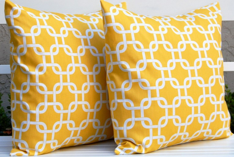 Amazing Yellow Throw Pillows With 20x20 Inches And With True Patterns Yellow Throw Pillows For Living Room Ideas