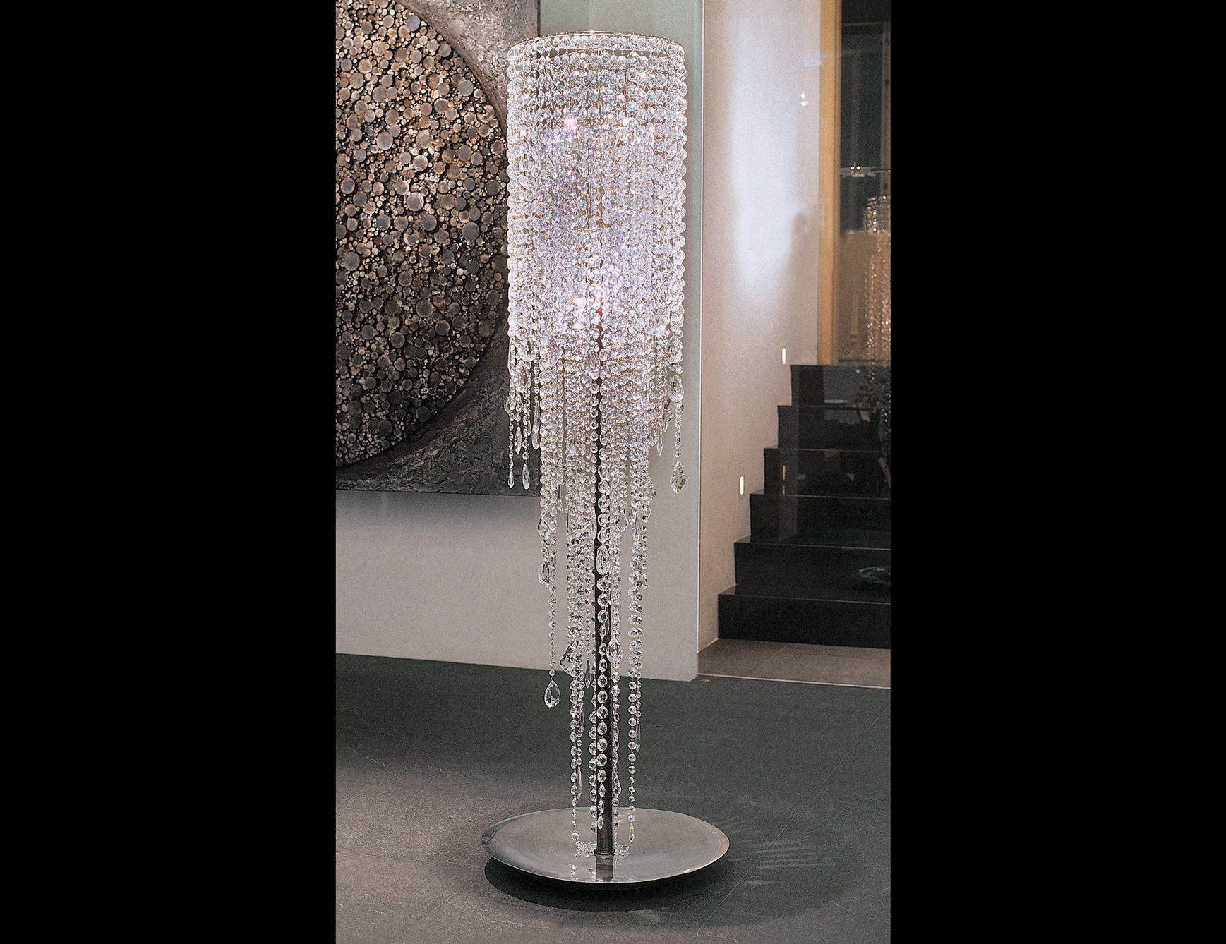 Amusing crystal floor lamp with unique design and good for your home light ideas