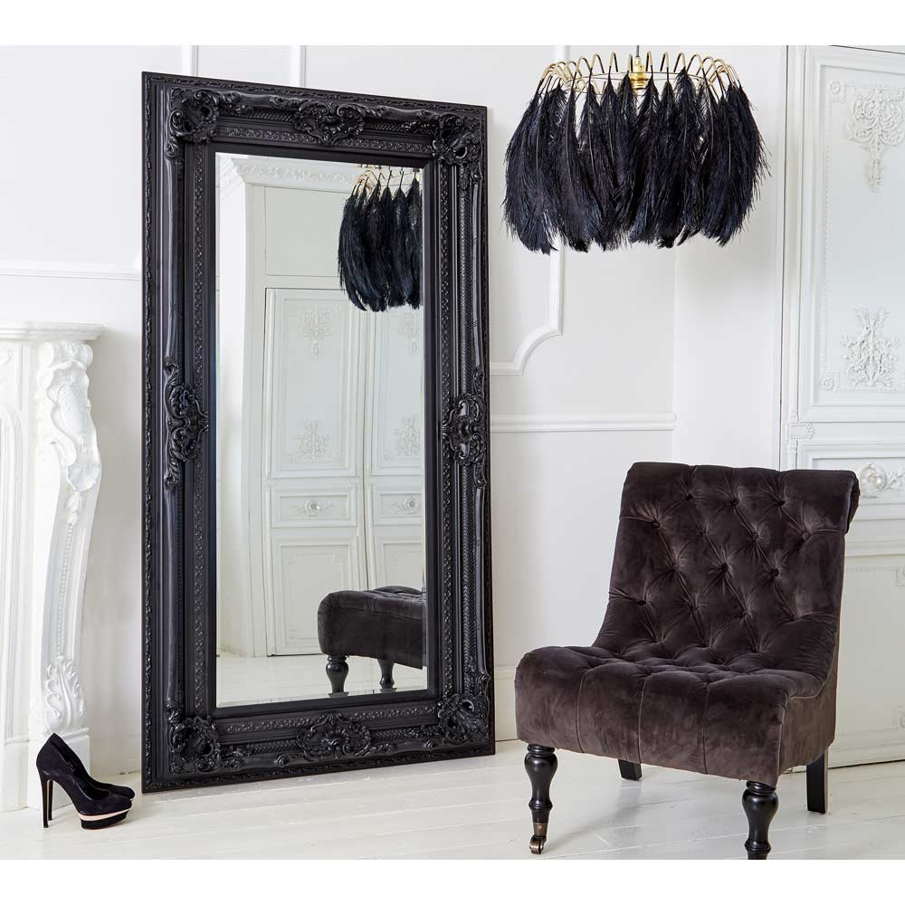 Beautiful Interior when using Floor Length Mirrors: Amusing Floor Length Mirrors Ornate Ornament Mirror Frame Can Be Place At Your Beautiful Bedroom Ideas