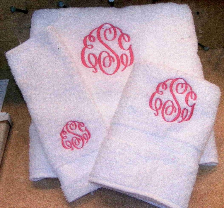 Find Out About Monogrammed Towels Home Furniture And Decor With Regard To Monogrammed Bath Towels Pertaining To Aspiration