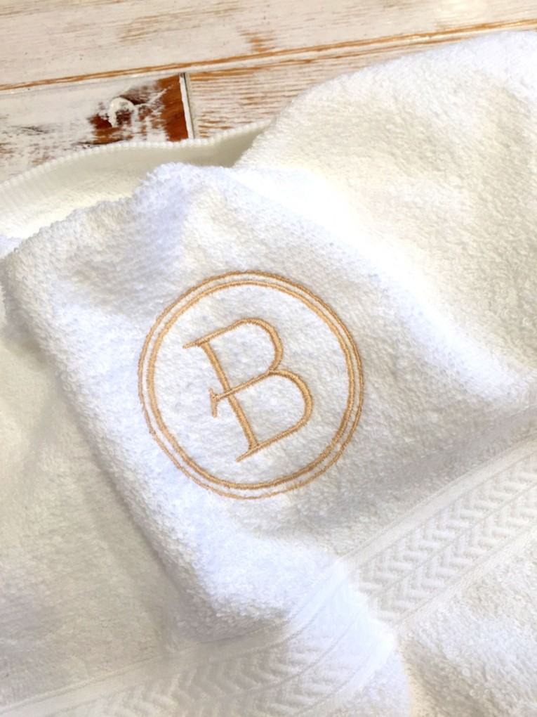 Amusing Monogrammed Hand Towels With Decorative Logo Pattern Towel For Bathing Ideas