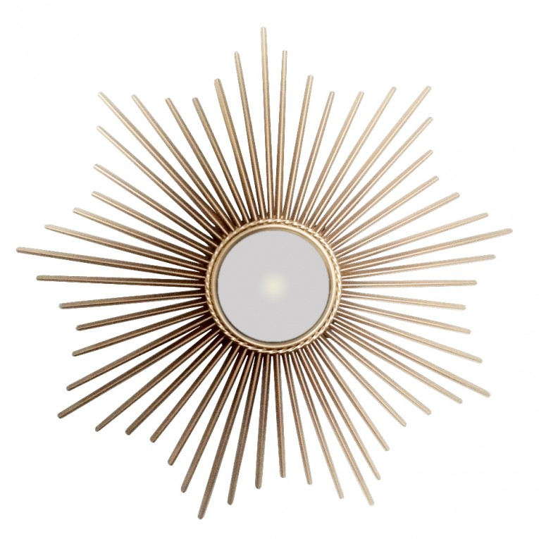 Amusing Sunburst Mirrors With Rustic Table And Night Lap Combined Plus Luxury Wall