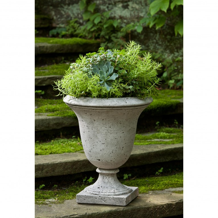 Amusing Urn Planters White Color For Exterior