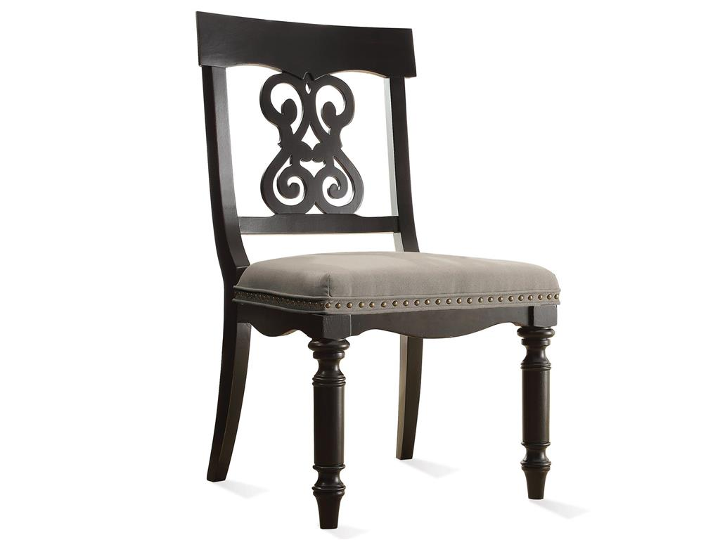 Appealing black wooden chair