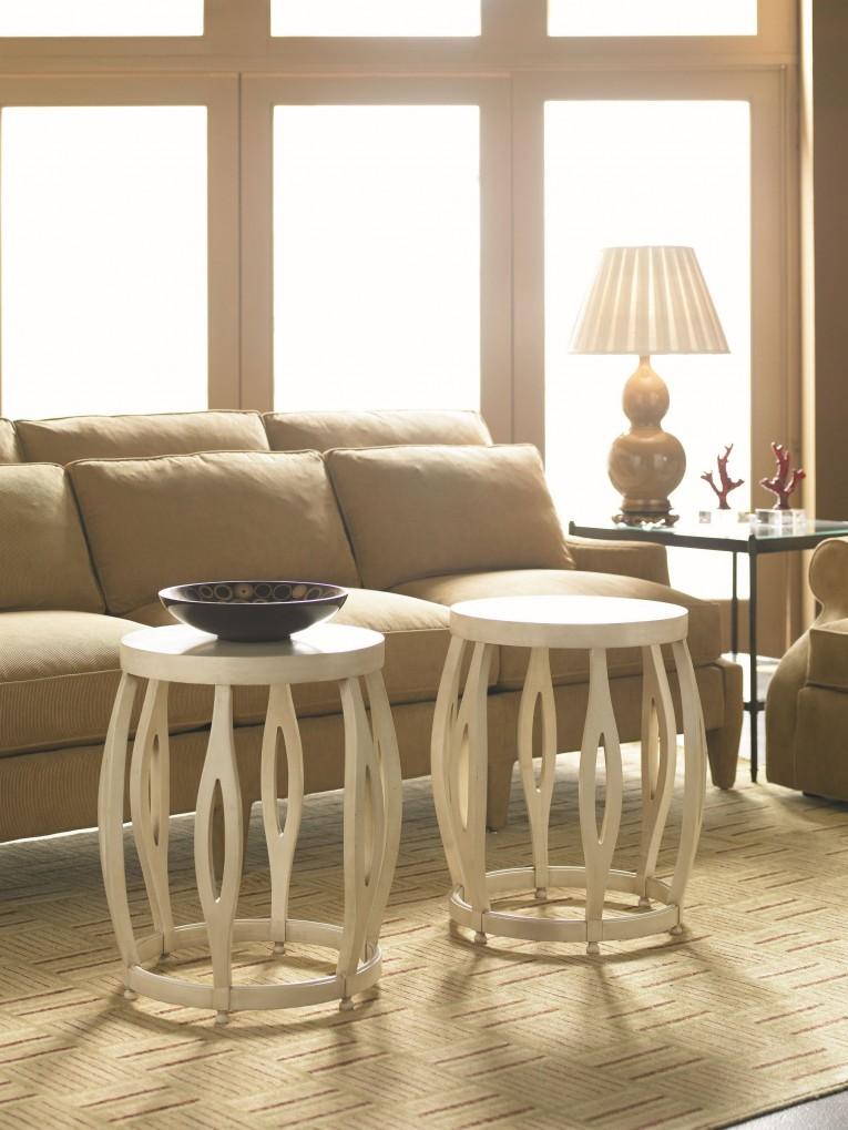 Appealing Bunching Tables With Wooden Source And Rug Also Soft Sofas And With Living Room Set Furnitures