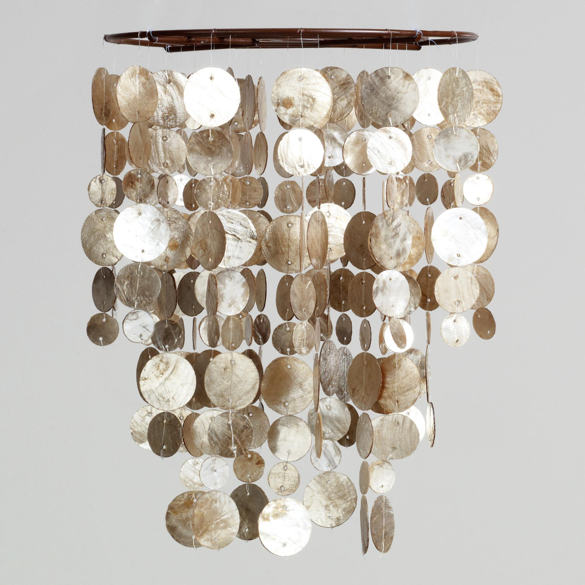 Appealing capiz shells wall mirror gold with light capiz shells for your home lighting ideas