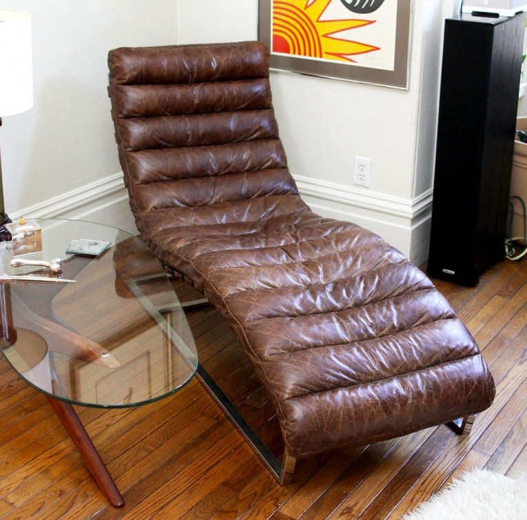 Appealing Leather Chaise With Beautiful Colors And Laminate Flooring Also Unique Interior Display For Living Room Furniture Ideas