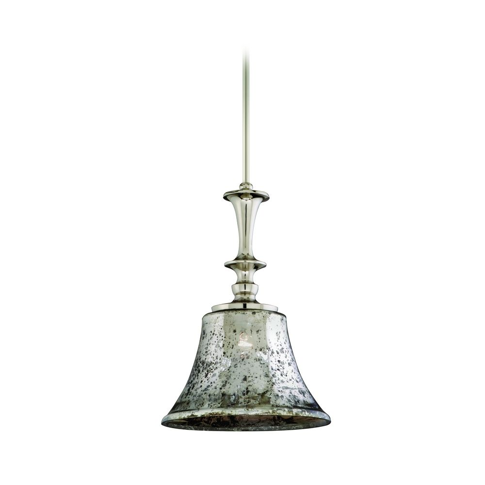 Appealing mercury glass pendant light with traditional glass pendant lamp
