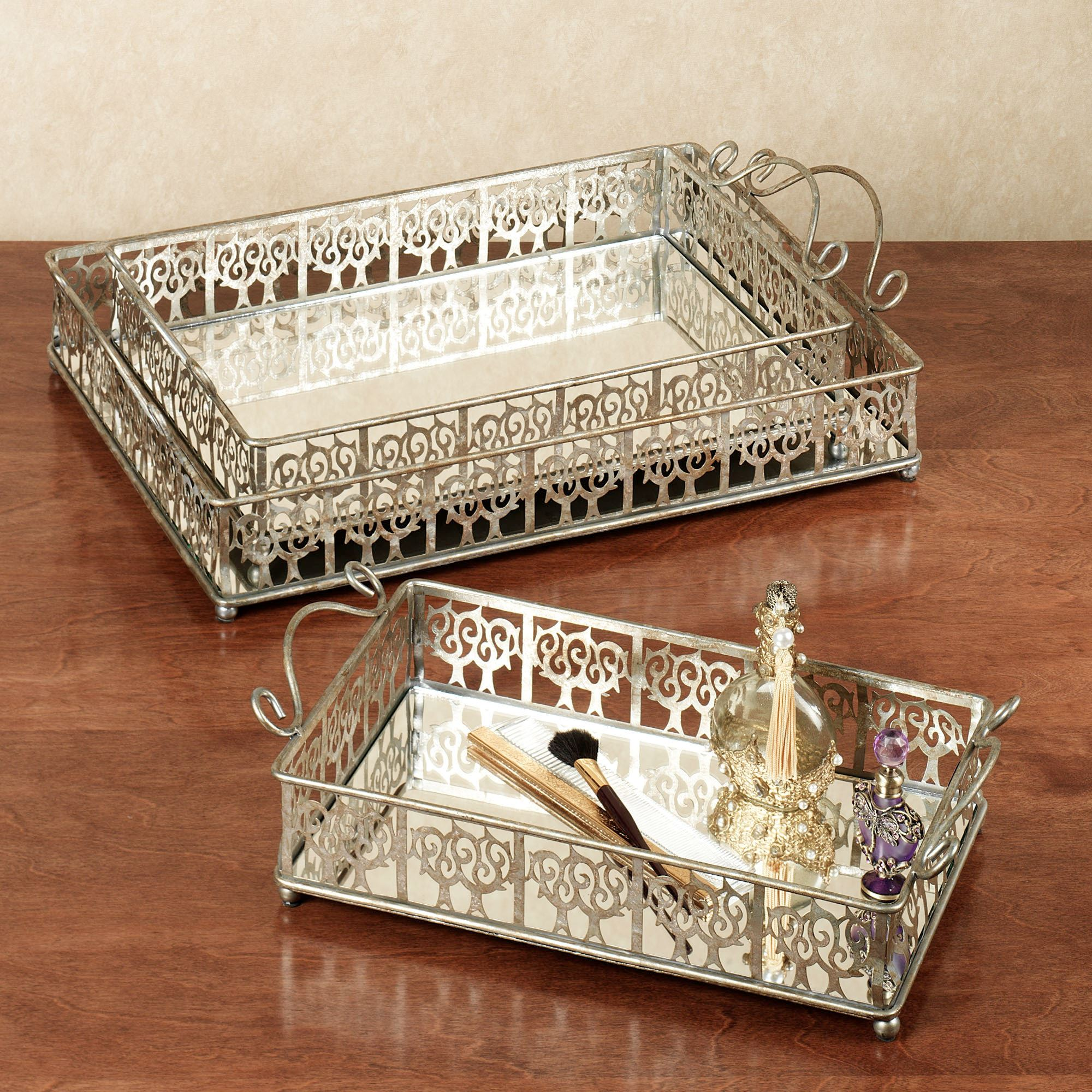 Appealing Mirrored Vanity Tray