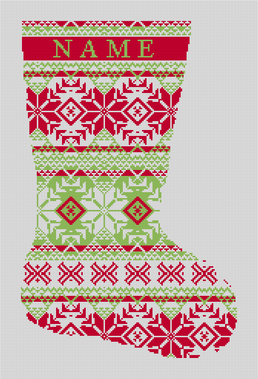 Appealing needlepoint stockings fair isle red and green ideas
