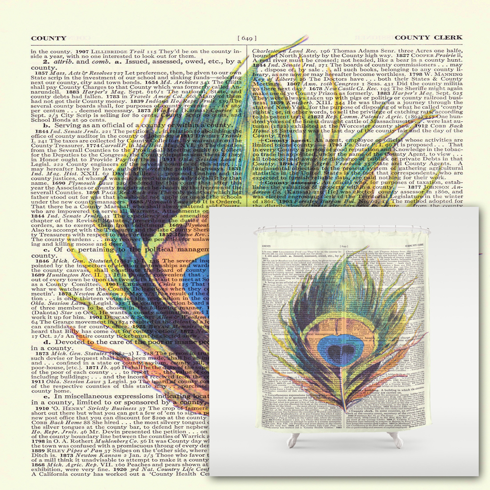 Appealing peacock shower curtain featuring beautiful color peacock shower curtain and sidetable with rollers for your beautiful modern bathroom shower ideas