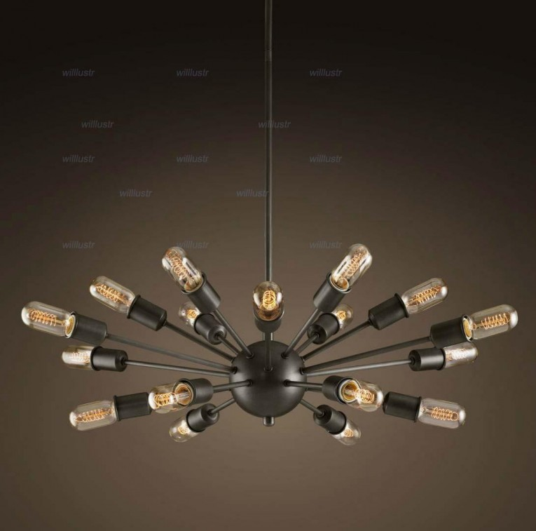Appealing Unique Design Of Orbit Chandelier With Iron Or Stainless For Ceiling Lighting Decorating Ideas