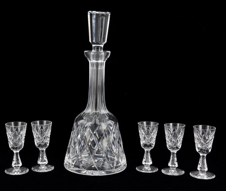 Appealing Waterford Crystal Decanter Waterford Crystal Lismore For Dining Display Serveware Ideas