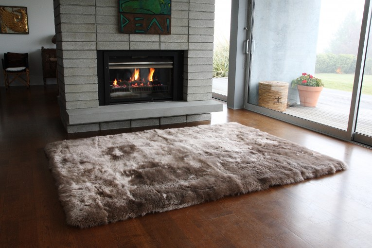 Astonishing 4x6 Rugs Sheepskin Rug And Dark Laminate Floor Also Sectional Sofa Combined With Queen Bedsize For Living Room Or Bedroom
