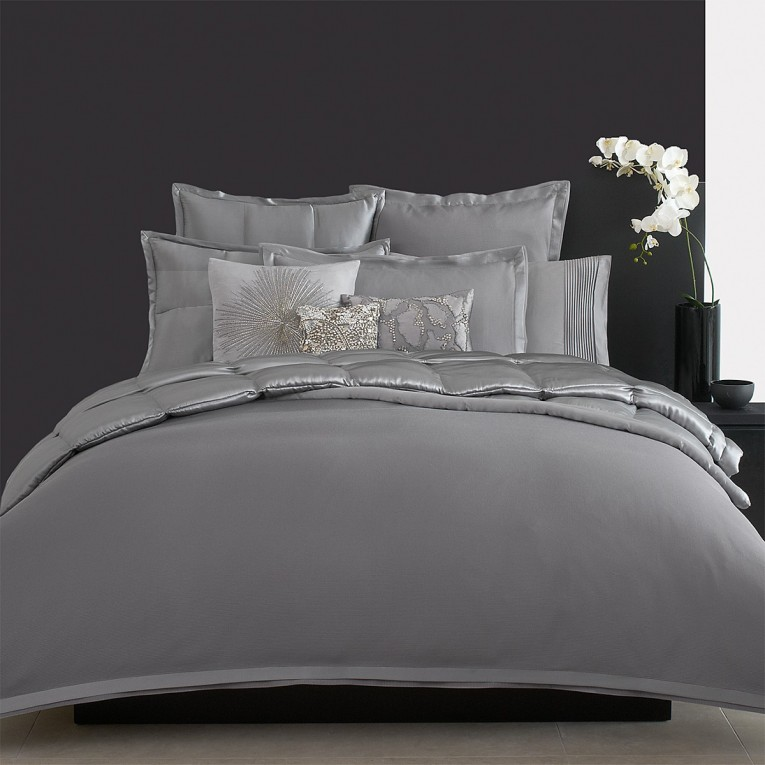 Astonishing Donna Karan Bedding With Cushion And Pillows Also Beautiful Duvet Cover And Sidetable And Luxury Wall Paint Color
