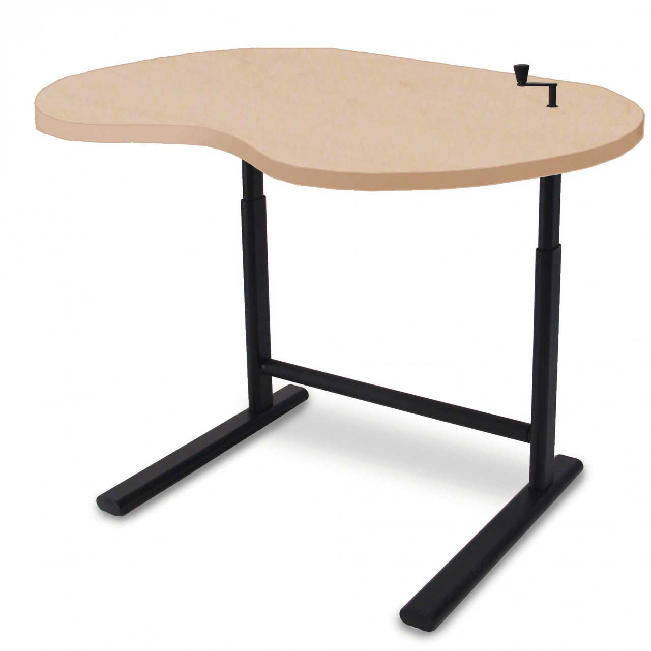 Beautiful Laptop Desk Stand for Work Space or Office: Astonishing Laptop Desk Stand With Aluminium Feet With Roll For Work Space Or Office Furniture Ideas