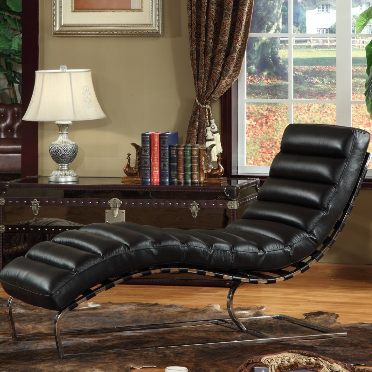 Astonishing Leather Chaise With Beautiful Colors And Laminate Flooring Also Unique Interior Display For Living Room Furniture Ideas