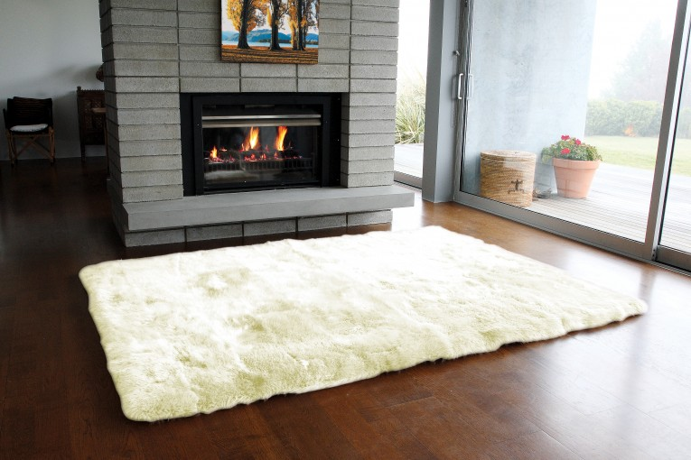 Astounding 4x6 Rugs Sheepskin Rug And Dark Laminate Floor Also Sectional Sofa Combined With Queen Bedsize For Living Room Or Bedroom