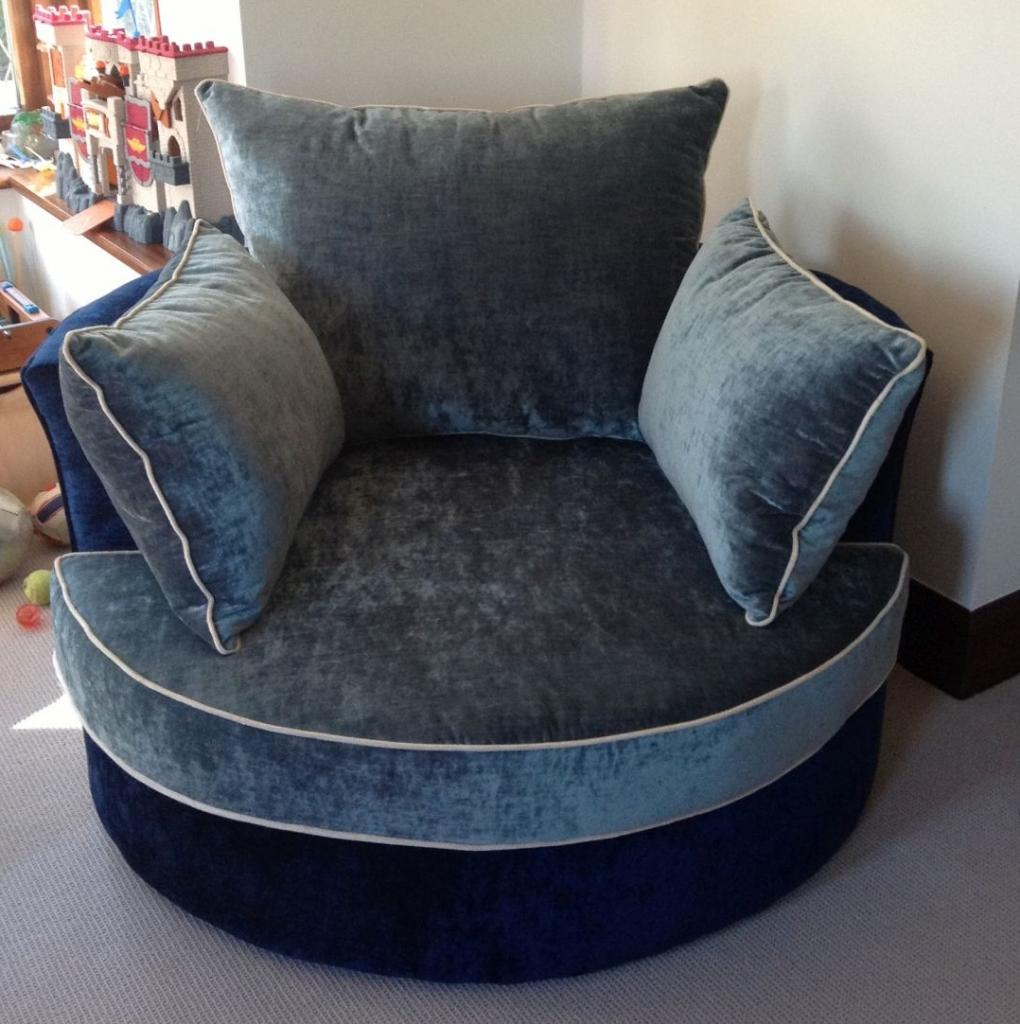 Astounding Cannon Swivel cuddle chair with cushion and for your Beautiful Living Room Ideas