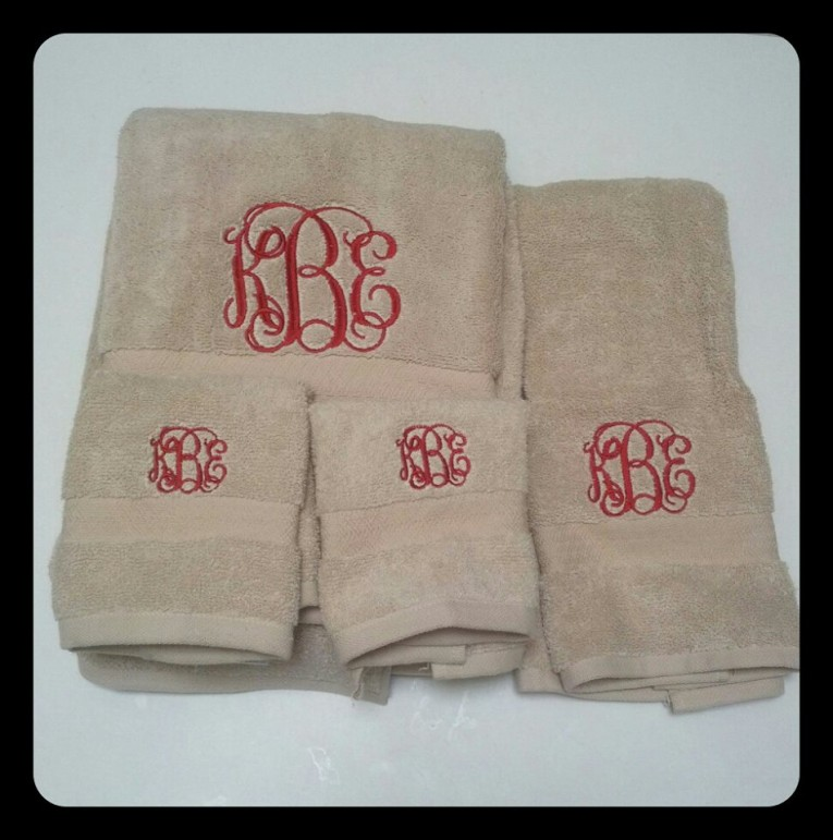 Astounding Monogrammed Hand Towels With Decorative Logo Pattern Towel For Bathing Ideas