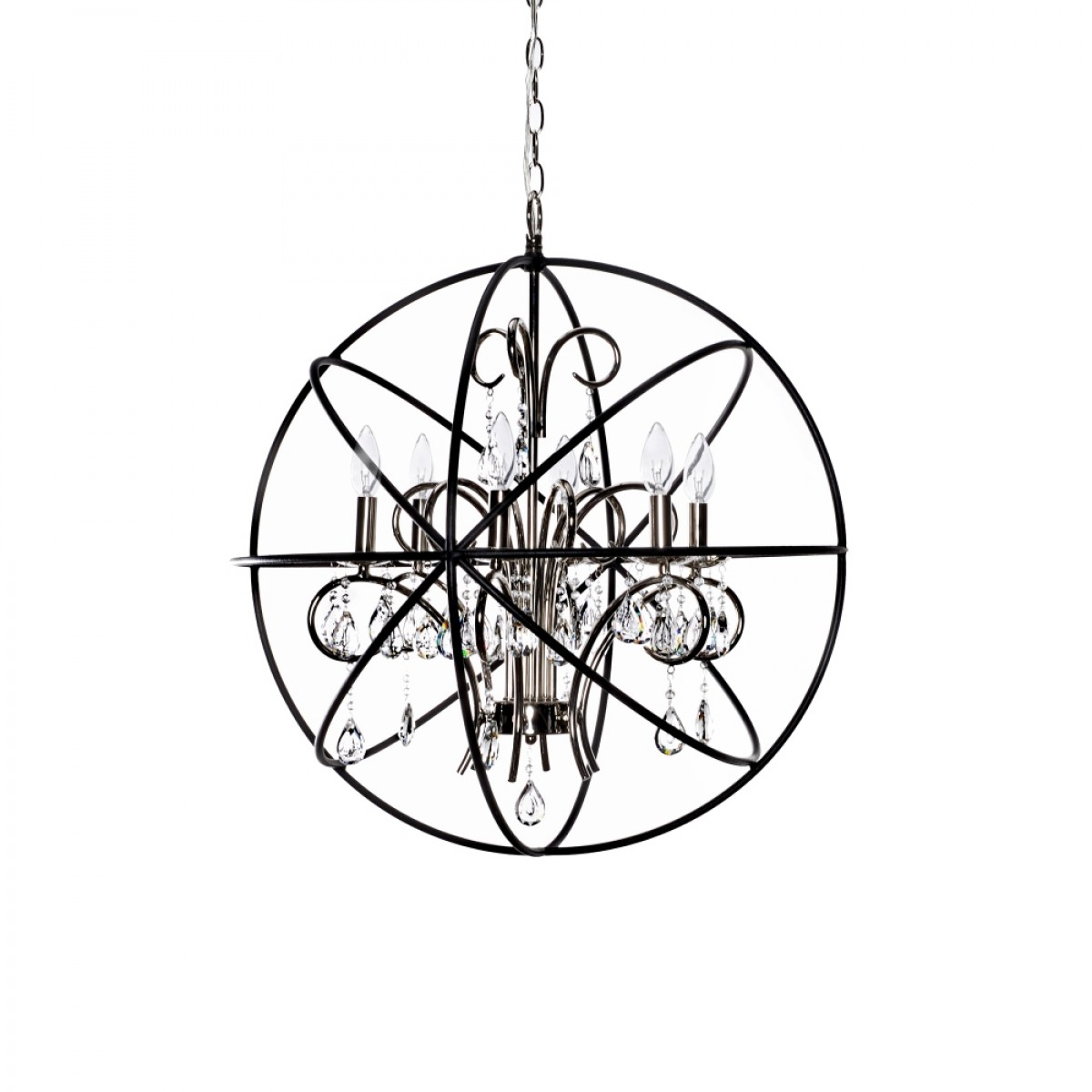 Astounding unique design of orbit chandelier with iron or stainless for ceiling lighting decorating ideas