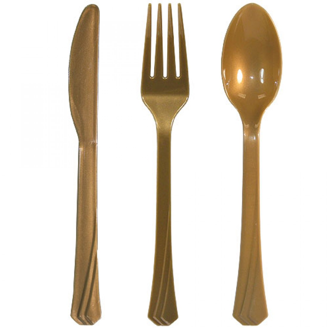 Attractive gold plastic silverware with glitters gold plastic silverware for serverware ideas