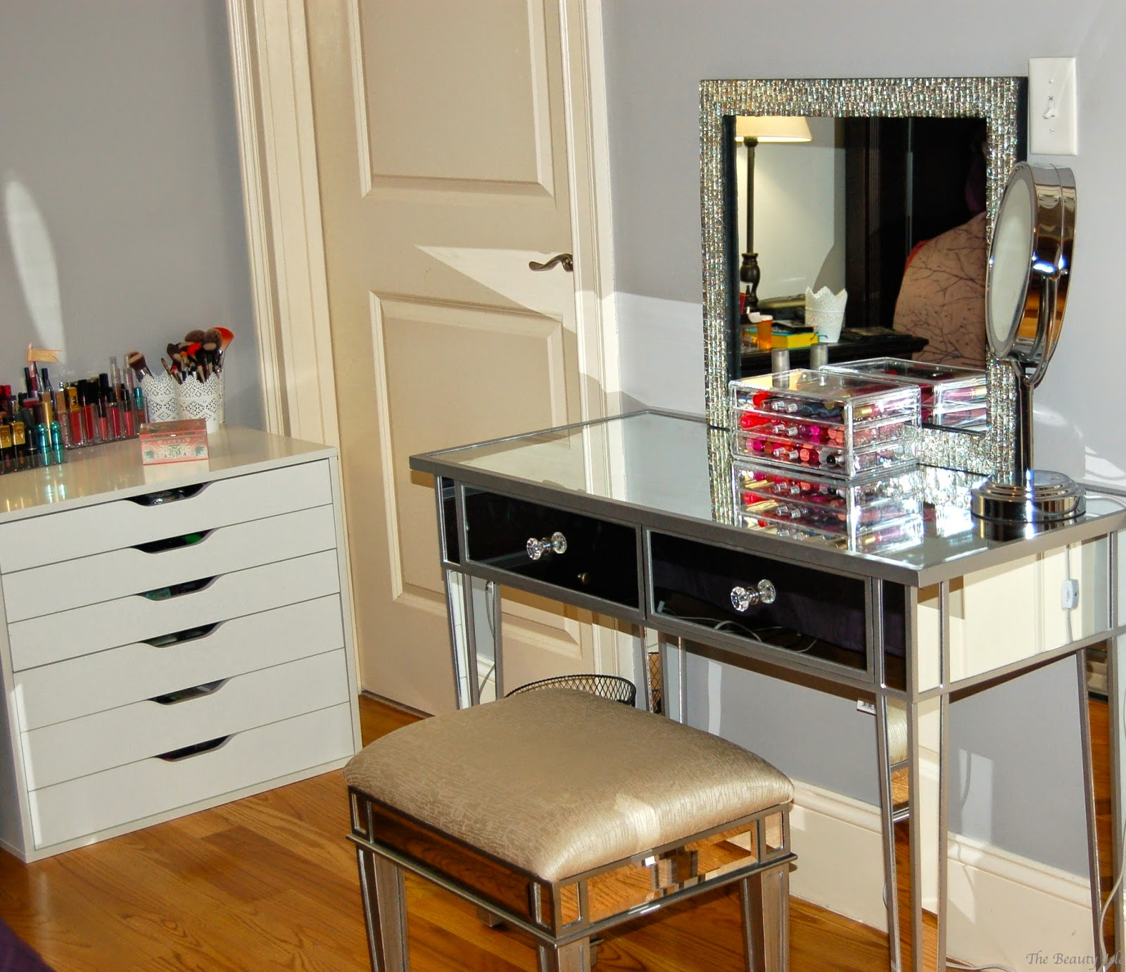 Attractive hayworth vanity mirrored vanity and ikea vanity also ikea rug hayworth rug ideas