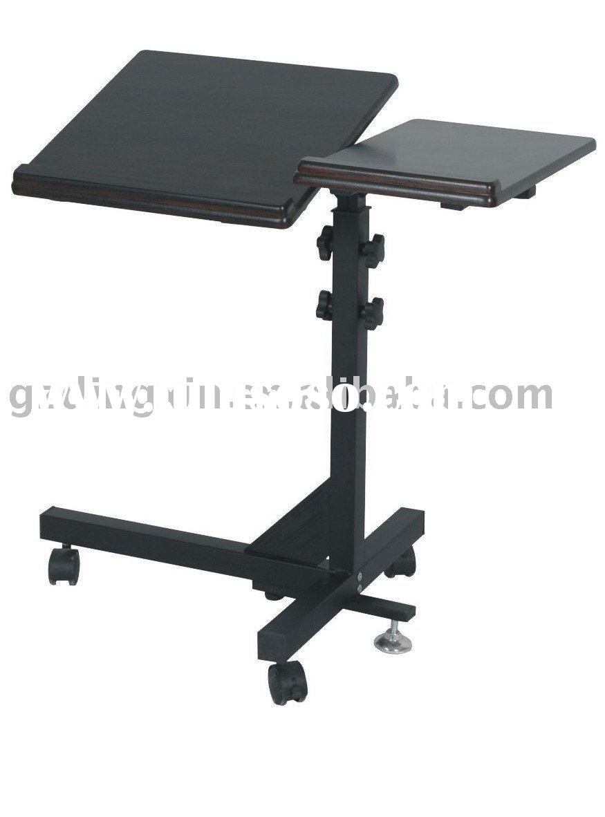 Attractive laptop desk stand with aluminium feet with roll for work space or office furniture Ideas
