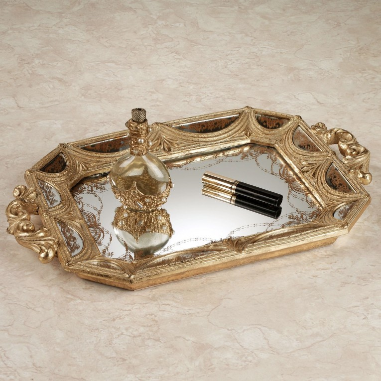 Attractive Mirrored Vanity Tray