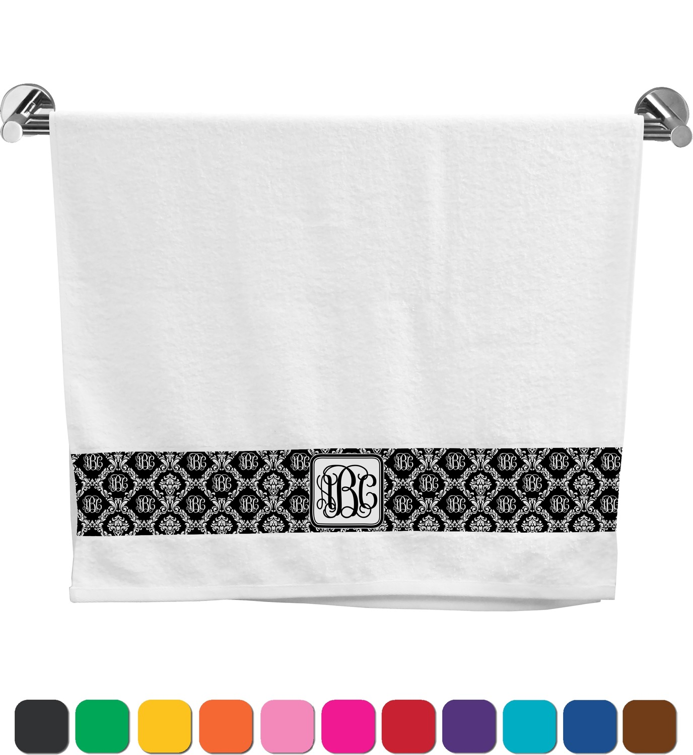 Attractive monogrammed bath towels with personalized towel of monogrammed towel set ideas