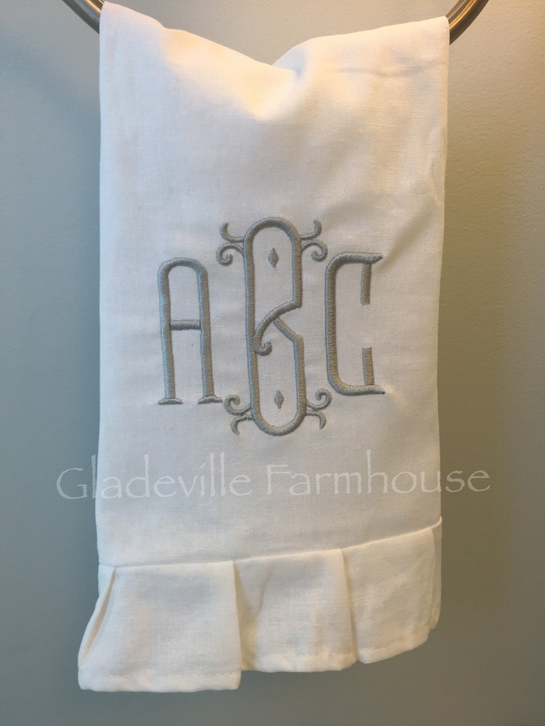 Attractive Monogrammed Hand Towels With Decorative Logo Pattern Towel For Bathing Ideas