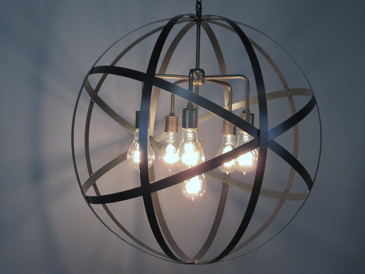 Attractive sphere chandelier metal orb chandelier with interesting Cheap Price for your Home Lighting