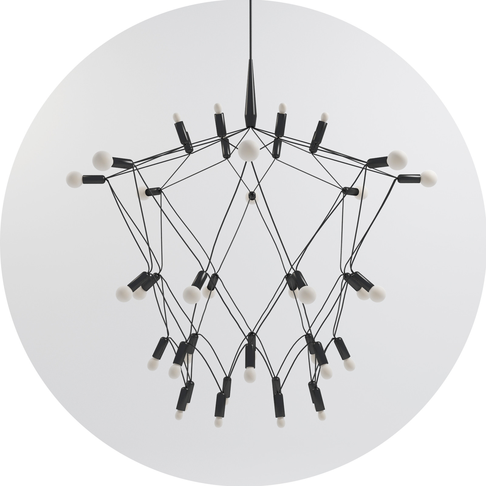 Attractive unique design of orbit chandelier with iron or stainless for ceiling lighting decorating ideas