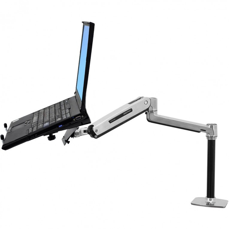 Awesome Laptop Desk Stand With Aluminium Feet With Roll For Work Space Or Office Furniture Ideas