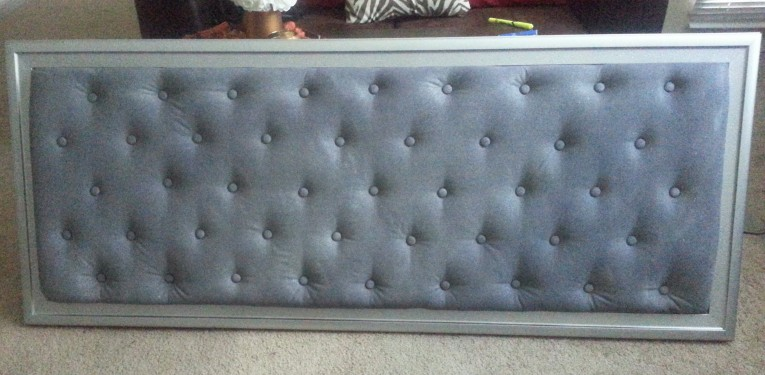 Awesome Quilted Headboard With Pillows And Queen Bed Size Platform Decorating Combined With Night Lamp And Sidetable