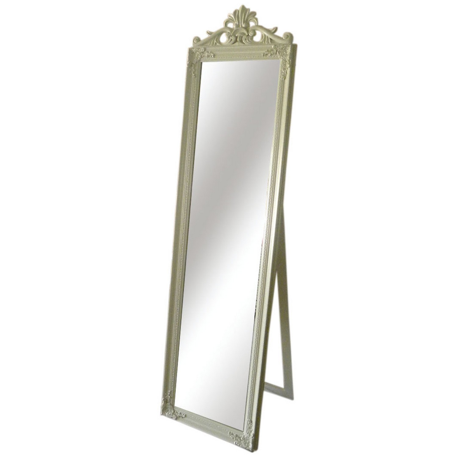 Beautiful Interior when using Floor Length Mirrors: Beautiful Floor Length Mirrors Ornate Ornament Mirror Frame Can Be Place At Your Beautiful Bedroom Ideas