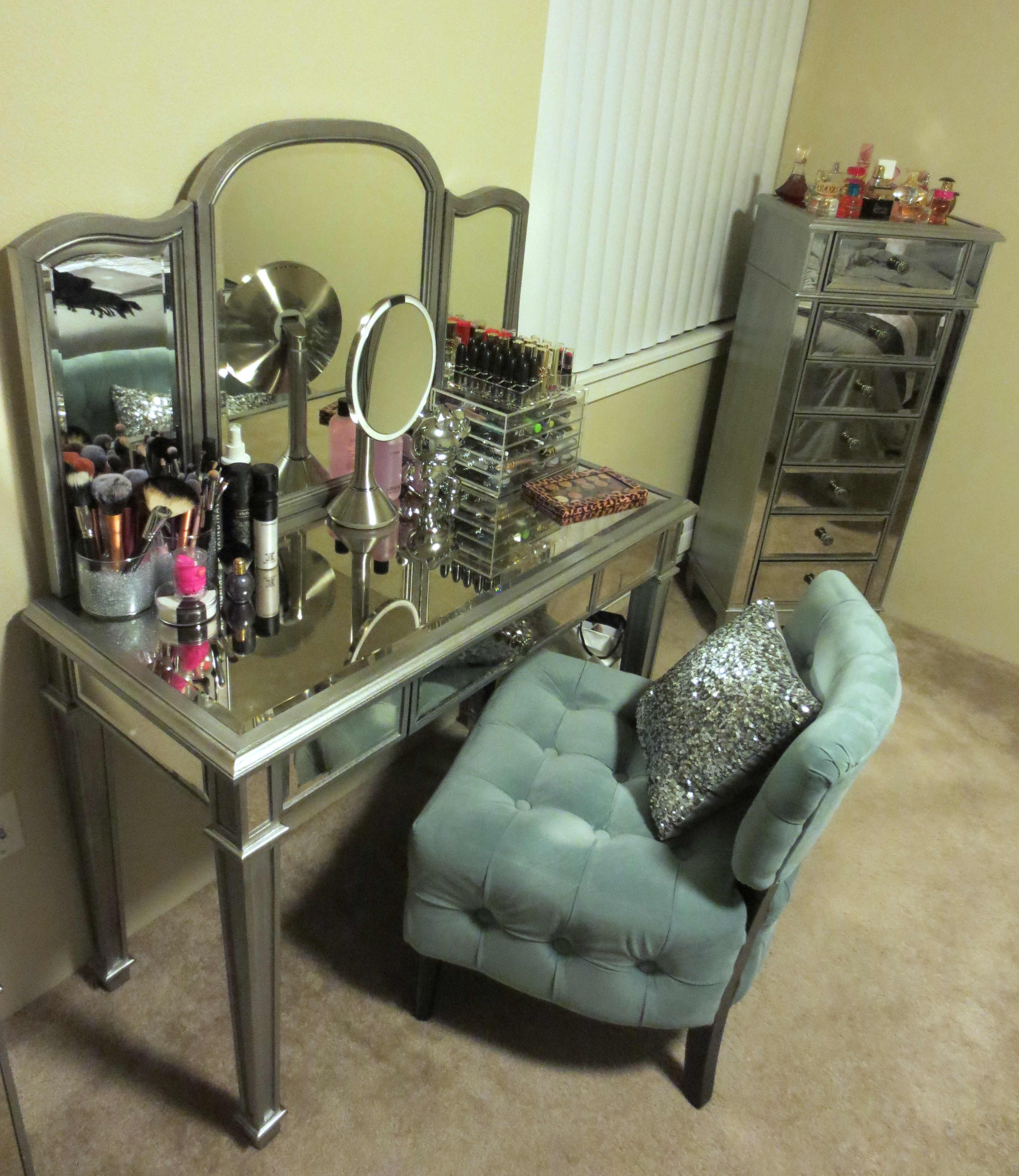 Beautiful hayworth vanity mirrored vanity and ikea vanity also ikea rug hayworth rug ideas